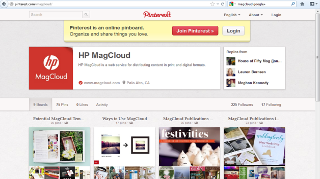 MC Pinterest Home Page