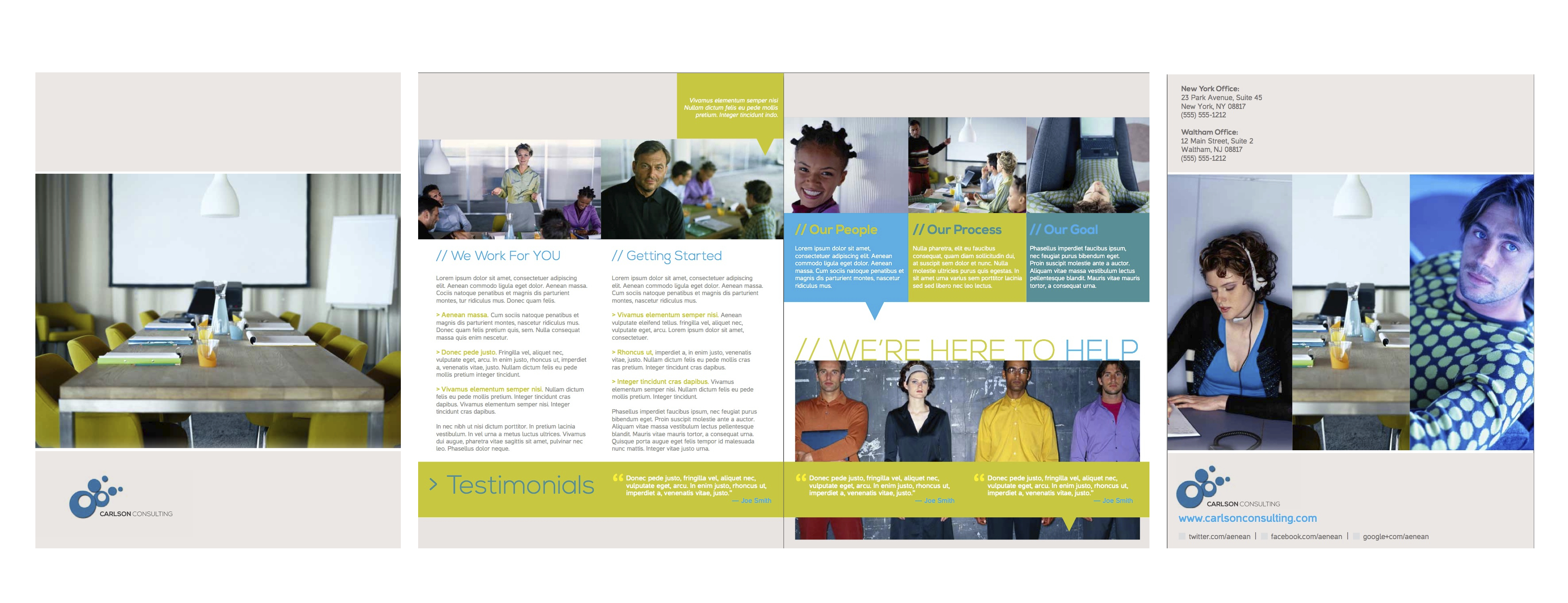 business services brochure